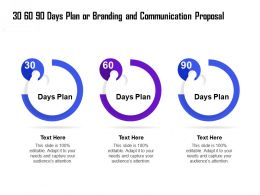 30 60 90 Days Plan Or Branding And Communication Proposal Ppt Brochure