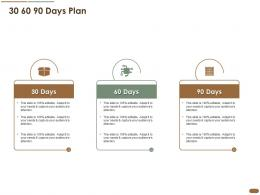 30 60 90 Days Plan Pitch Deck Raise Post Ipo Debt Banking Institutions Ppt Infographics Rules