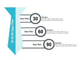 30 60 90 Days Plan Pitch Deck Raise Seed Capital Angel Investors Ppt Template