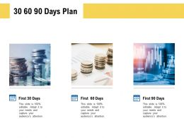 30 60 90 Days Plan Planning L490 Ppt Powerpoint Presentation Infographics Skills
