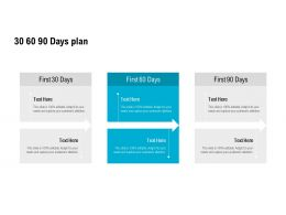 30 60 90 Days Plan Planning L501 Ppt Powerpoint Presentation Outline