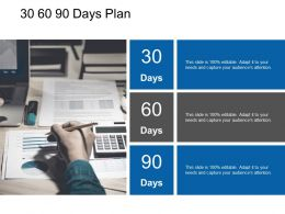 30 60 90 Days Plan Planning L67 Ppt Powerpoint Presentation Styles Show