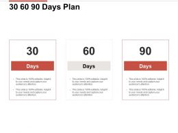 30 60 90 Days Plan Planning Ppt Powerpoint Presentation Slides Picture