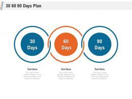30 60 90 Days Plan Ppt Diagrams