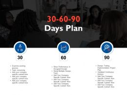 30 60 90 Days Plan Ppt Powerpoint Presentation File Slide Download