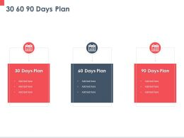 30 60 90 Days Plan Ppt Powerpoint Presentation Slides Outline
