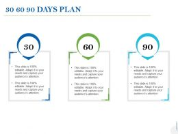 30 60 90 Days Plan Process C998 Ppt Powerpoint Presentation Ideas Clipart
