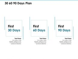 30 60 90 Days Plan Process J188 Ppt Powerpoint Presentation Diagram Ppt
