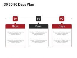 30 60 90 Days Plan Process J221 Ppt Powerpoint Presentation File Deck