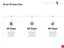 30 60 90 Days Plan Process Ppt Powerpoint Presentation Diagram Ppt