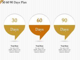 30 60 90 Days Plan R509 Ppt Powerpoint Presentation Gallery