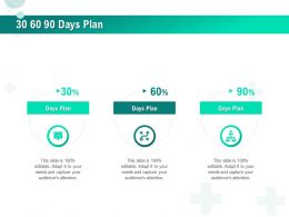 30 60 90 Days Plan R542 Ppt Powerpoint Presentation Icon Clipart