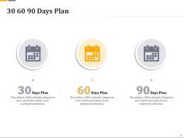 30 60 90 Days Plan R627 Ppt Powerpoint Model