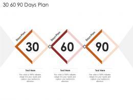 30 60 90 Days Plan Restaurant Business Plan Ppt Model Objects