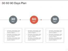 30 60 90 Days Plan Robotic Process Automation IT Ppt Powerpoint Presentation Styles Graphics