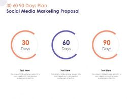 30 60 90 Days Plan Social Media Marketing Proposal Ppt Powerpoint Presentation