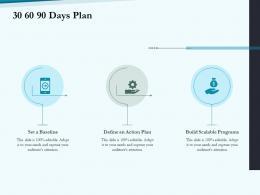 30 60 90 Days Plan Social Pension Ppt Sample