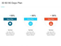 30 60 90 Days Plan Steps Set Up Advanced Security Management Plan Ppt Professional
