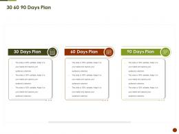 30 60 90 Days Plan Strategies Overcome Challenge Of Declining Ppt Information