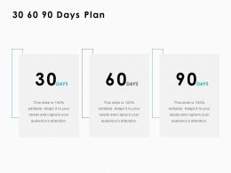 30 60 90 Days Plan Strategy C1007 Ppt Powerpoint Presentation Infographics Model
