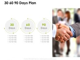 30 60 90 Days Plan Timeline I406 Ppt Powerpoint Presentation Icon Visuals