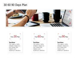 30 60 90 Days Plan Timeline Ppt Powerpoint Presentation Outline Grid