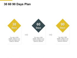 30 60 90 Days Plan Timeline Ppt Powerpoint Presentation Pictures