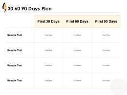 30 60 90 Days Plan Timepline J27 Ppt Powerpoint Presentation Diagram