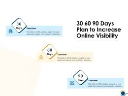 30 60 90 Days Plan To Increase Online Visibility Ppt Powerpoint Presentation Guide
