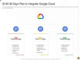30 60 90 Days Plan To Integrate Google Cloud Google Cloud IT Ppt Graphics