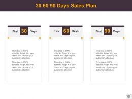 30 60 90 Days Sales Plan Management L511 Ppt Powerpoint Presentation