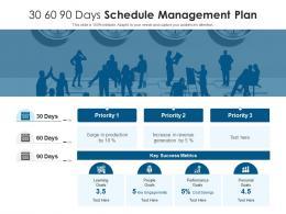 30 60 90 Days Schedule Management Plan