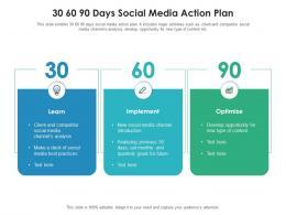 30 60 90 Days Social Media Action Plan
