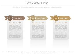 30 60 90 Goal Plan Powerpoint Slides