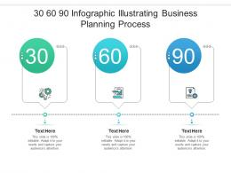 30 60 90 Illustrating Business Planning Process Infographic Template