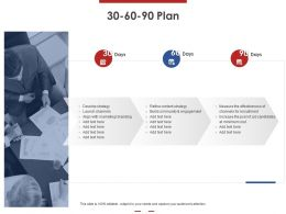 30 60 90 Plan Develop Strategy Ppt Powerpoint Presentation Show Files