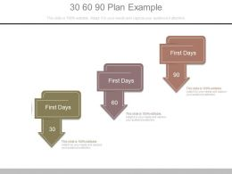 30 60 90 Plan Example Powerpoint Slides