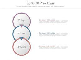 30 60 90 Plan Ideas Powerpoint Templates