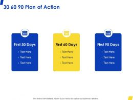 30 60 90 Plan Of Action M181 Ppt Powerpoint Presentation Pictures Outline