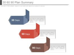 30 60 90 Plan Summary Powerpoint Templates