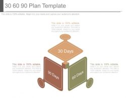 30 60 90 Plan Template Powerpoint Templates