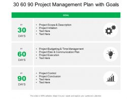 30 60 90 Project Management Plan With Goals