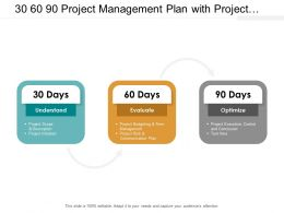 30 60 90 Project Management Plan With Project Budgeting