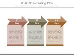 30 60 90 Recruiting Plan Powerpoint Templates