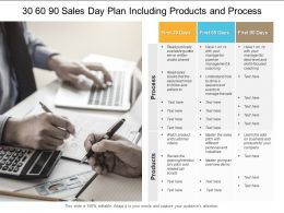 30 60 90 Sales Day Plan Including Products And Process