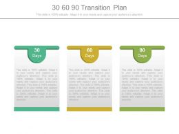30 60 90 Transition Plan Powerpoint Templates