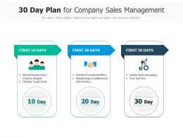 30 Day Plan For Company Sales Management