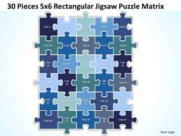 30 Pieces 5x6 Rectangular Jigsaw Puzzle Matrix Powerpoint templates 0812