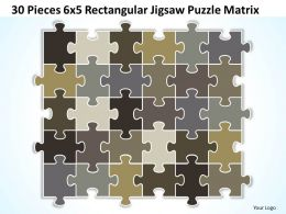 30 Pieces 6x5 Rectangular Jigsaw Puzzle Matrix Powerpoint templates 0812