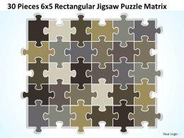 30_pieces_6x5_rectangular_jigsaw_puzzle_matrix_powerpoint_templates_0812_Slide01
